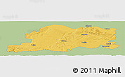 Savanna Style Panoramic Map of Pleven, single color outside