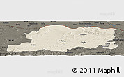 Shaded Relief Panoramic Map of Pleven, darken
