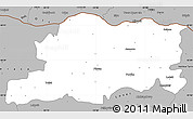 Gray Simple Map of Pleven
