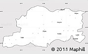 Silver Style Simple Map of Pleven, cropped outside