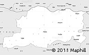 Silver Style Simple Map of Pleven