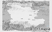 Gray Panoramic Map of Plovdiv