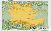 Savanna Style Panoramic Map of Plovdiv