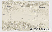 Shaded Relief Panoramic Map of Plovdiv