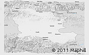 Silver Style Panoramic Map of Plovdiv