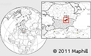 Blank Location Map of Ruse, highlighted country