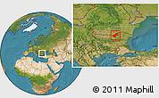 Satellite Location Map of Ruse