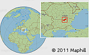Savanna Style Location Map of Ruse