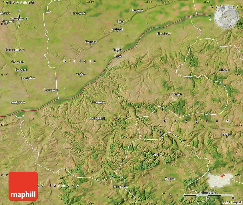 Satellite Map of Ruse
