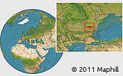 Satellite Location Map of Silistra