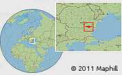 Savanna Style Location Map of Silistra