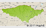 Physical Map of Silistra, shaded relief outside