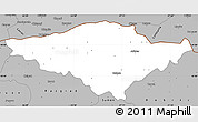 Gray Simple Map of Silistra