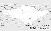 Silver Style Simple Map of Silistra