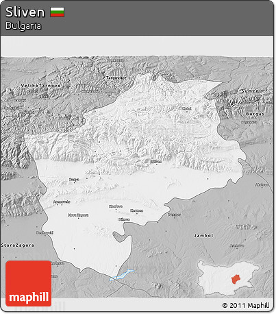 Gray 3D Map of Sliven