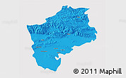 Political 3D Map of Sliven, cropped outside