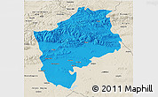 Political 3D Map of Sliven, shaded relief outside