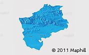 Political 3D Map of Sliven, single color outside