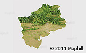 Satellite 3D Map of Sliven, cropped outside