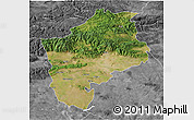 Satellite 3D Map of Sliven, desaturated