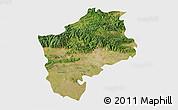 Satellite 3D Map of Sliven, single color outside