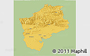 Savanna Style 3D Map of Sliven, single color outside