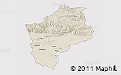 Shaded Relief 3D Map of Sliven, cropped outside