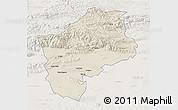 Shaded Relief 3D Map of Sliven, lighten