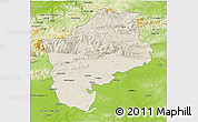 Shaded Relief 3D Map of Sliven, physical outside