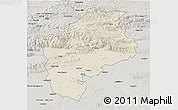 Shaded Relief 3D Map of Sliven, semi-desaturated