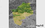 Satellite Map of Sliven, desaturated