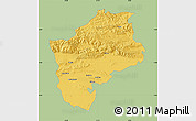 Savanna Style Map of Sliven, single color outside