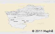 Classic Style Panoramic Map of Sliven, single color outside