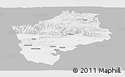Gray Panoramic Map of Sliven, single color outside