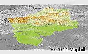Physical Panoramic Map of Sliven, desaturated