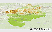 Physical Panoramic Map of Sliven, lighten