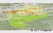 Physical Panoramic Map of Sliven, semi-desaturated