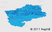 Political Panoramic Map of Sliven, cropped outside