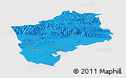 Political Panoramic Map of Sliven, single color outside