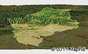 Satellite Panoramic Map of Sliven, darken