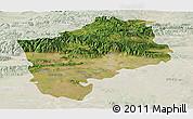 Satellite Panoramic Map of Sliven, lighten