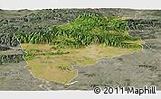 Satellite Panoramic Map of Sliven, semi-desaturated