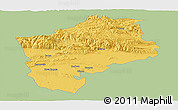 Savanna Style Panoramic Map of Sliven, single color outside