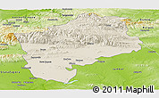 Shaded Relief Panoramic Map of Sliven, physical outside