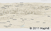 Shaded Relief Panoramic Map of Sliven