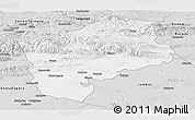Silver Style Panoramic Map of Sliven