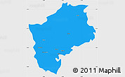 Political Simple Map of Sliven, single color outside