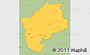 Savanna Style Simple Map of Sliven, cropped outside