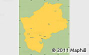 Savanna Style Simple Map of Sliven, single color outside
