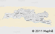 Classic Style Panoramic Map of Smoljan, single color outside